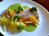 Papillotte de poisson à la citronnelle et kumquat - William Ledeuil