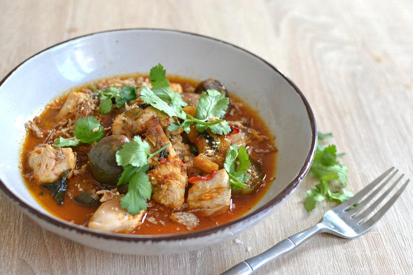 Poulet au curry rouge recette facile