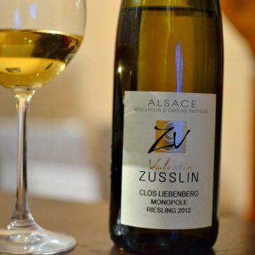 Riesling Clos Liebenberg 2012, Domaine Valentin Zusslin (Alsace)
