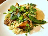 Agneau curry vert fèves et menthe - Restaurant Dan à Bordeaux