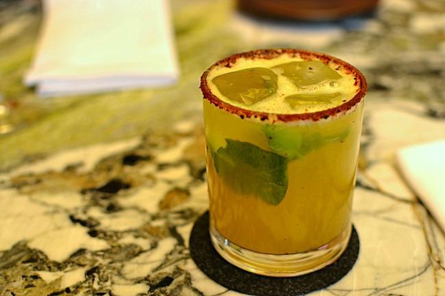Restaurant Quintonil, aperitif Agua de Quintonil - Mexico