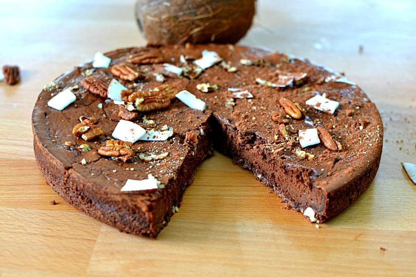 Fondant chocolat - mascarpone, noix de pécan et coco, la recette