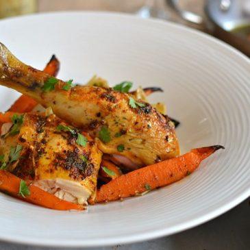 Poulet rôti aux épices au four : le poulet grillé venu d'Orient