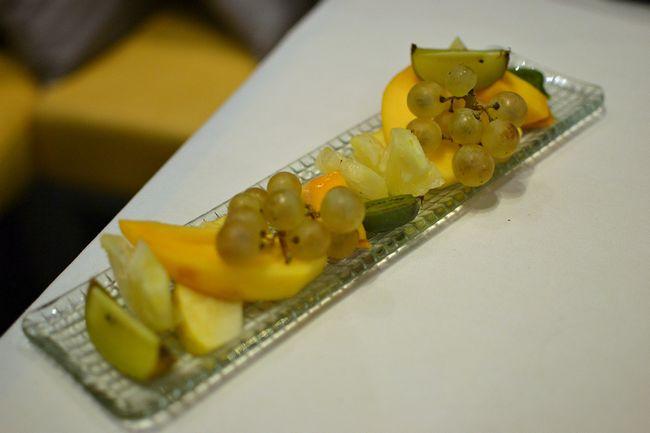 Fruits frais dessert Astrance