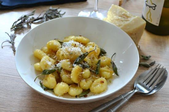 Gnocchi au beurre de sauge recette