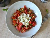 Salade ricotta tomates herbes