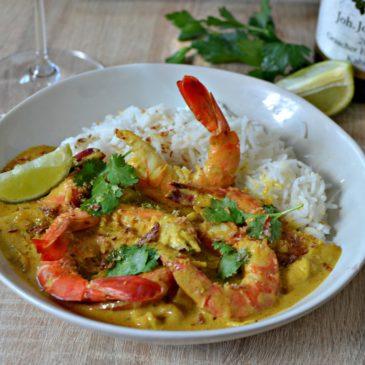Crevettes au curry au lait de coco : la recette «crustacés-épicés»