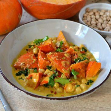 Curry potimarron et pois chiche : la recette végétarienne épicée !