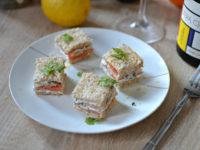 Sandwich saumon fume fromage frais herbes recette